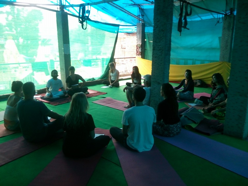 yoga retreat session in dharamsala